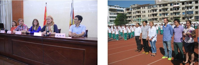 义乌市稠州中学2013年10月接待德国黑森州特拉艾希市韦伯费尔德一级